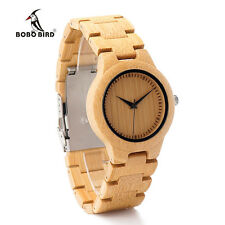 BOBO BIRD L28 Bamboo Wooden Watches for woomen with Wood Band Quartz Watch