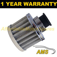 9mm MINI AIR OIL CRANK CASE BREATHER FILTER FITS MOST CARS SILVER ROUND