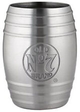 Jack Daniel's Whiskey Barrel Stainless Steel Shot Glass Bug Logo 2oz, Gift Pack