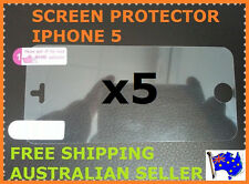 5x CLEAR LCD SCREEN PROTECTOR FILM FOR IPHONE 5 5G