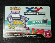 LOT OF 2 CARDS Pokemon XY Furious Fists Trading Game Online Pack Code New