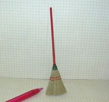 Miniature Carradus Miniature Straw Broom/Red Handle for DOLLHOUSE 1/12 Scale