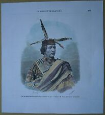 1875 print CHIEF OF WARM SPRINGS (TENINO) INDIANS IN PEACE COSTUME, OREGON (#179