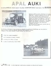 Apal Auki Buggy VW Beetle-based French text sales item