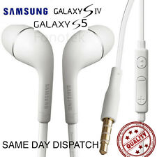 Generic Samsung Galaxy S3 S4 S5 Flat In Ear Handsfree Headphones Earphones i9500