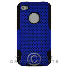 Apple iPhone 4/i4S Hybrid Mesh Case Blue Case Cover Shell Protector Guard Shield