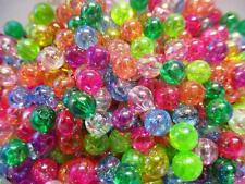 200 x acrílico perlas 6mm multicolor Mix a partir de unos acrílico perlas despierta perlas V bastelconcepte