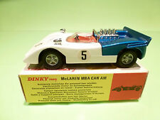 DINKY TOYS  223 MCLAREN M8A CAN AM - WHITE 1:43 - RARE SELTEN - NEAR MINT IN BOX
