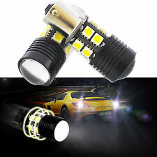 White 2x Canbus No Error 1156 BA15S P21W LED Car Tail Backup Reverse Light Bulb