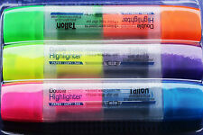 Pack of 3 Double Ended Quality 5* Dataglo Highlighter Pens - 6 Assorted Colours