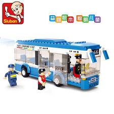 City Series:Single layer bus city bus Building toy school bus 235pcs fit lego