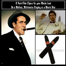 Fake Cigars (Pack 2) Gangster Mafia Film Star Pimp Playboy Costume Accessories