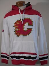NWT Majestic Calgary Flames Double Minor Mens Pullover Hoodie XL White MSRP$70