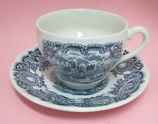 Historical Ports of England Blue Tea Coffee Cup & Saucer Port of Hull NICE!