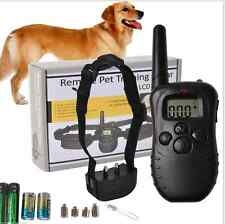 LCD Electric Remote Control Shock Dog Training Collar Anti Bark Black New 2016