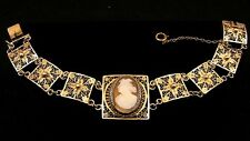 ANTIQUE CAMEO FILIGREE BRACELET *SILVER & SILVER GILT* c.1880