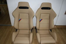 2  Recaro SportEVO Sport Evolution BMW M3 E30 E34 Cecotto Sitze Sportsitz beige