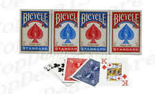4 Decks Bicycle US Standard Playing Cards Trusted Poker Card USA Made Blue&Red