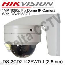 Hikvision DS-2CD2142FWD-I 4MP 2.8mm  IP66 HD1080p SD POE WDR Network Camera +BKT
