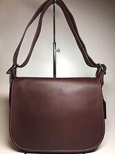 $395 Coach Oxblood Leather Patricia Legacy Saddle Bag F38247 NWT