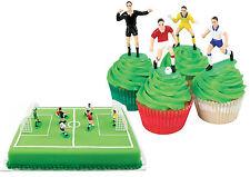 Topper per torte Calciatori Calcio con porte - per torte