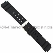 14mm Flex-On Black Rubber Fits Casio Ladies Long Watch Band BUY 1 GET 3 FREE!