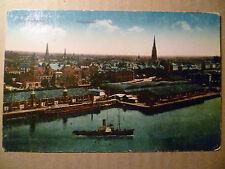 1919 Postcard: BREMERHAVEN, TOTALANSICHT,Germany, Sailing Ship Dock