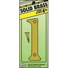 """NEW HY-KO BR-90/1 4"""" INCH SOLID BRASS #1 HOUSE MAILBOX NUMBER WITH SCREW 0250977"""