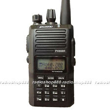 New arrival Puxing PX-888K Dualband 2 way radio dual display + PTT Earpiece