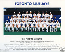 1993 TORONTO BLUE JAYS WORLD SERIES CHAMPIONS 8X10 TEAM PHOTO