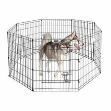 "Pet Trex 24"" Exercise Playpen For Dogs Eight 24"" x 30"" High Panels with Gate New"