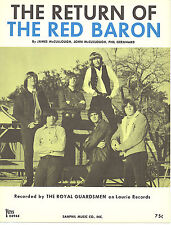 THE ROYAL GUARDSMEN Return Of The Red Baron sheet music