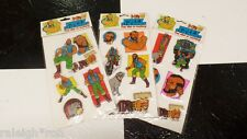 3 Sets of Vintage 80's 1983 Puffy Mr. T Puffy Sticker Lot