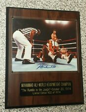 Muhammad Ali Signed 8x10 Ali vs Foreman framed Photo Cassius Clay