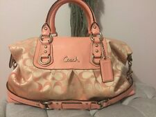 Authentic Coach Ashley Signature Satchel Peony Pink Large Sateen