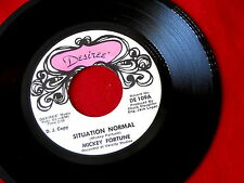 MICKEY FORTUNE~SITUATION NORMAL~RARE PROMO~TEARS ON THE ROCKS~BOPPER~ COUNTRY 45