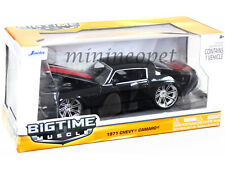 JADA BIGTIME 90532 1971 71 CHEVY CAMARO 1/24 DIECAST BLACK with RED STRIPES