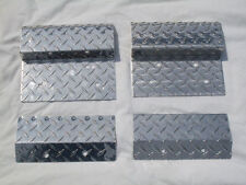 "ALUMINUM DIAMOND PLATE LOADING RAMP LAWNMOWER ATV KIT 7"" TOPS & BOTTOMS FULL SET"