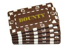 5 pcs Rectangular Poker Chips Plaques BOUNTY