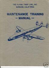 Super Constellation L-1049 1950's historic maintenance manual archive rare