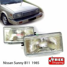 New Glasses Head Lamp Lights LH + RH For Nissan Sunny Trusu B11 Sentra 130Y 1985