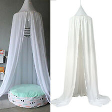 Bed Canopy Netting Bedding Net Baby Kids Reading Play Tents 240cm Cotton White!