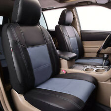 Universal Grey Front  PU Leather Car Seat Covers Fit Holden Mazda Toyota Nissan