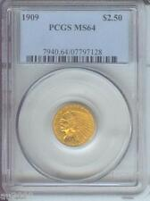 1909 $2.5 Indian Quarter Eagle Pcgs Ms64 Nice Ms-64 Better Date !