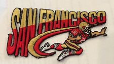 "VINTAGE IRON ON EMBROIDED PATCH SAN FRANCISCO 49ERS 4""x 2 1/2"""