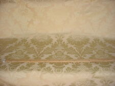 4+y KRAVET / LEE JOFA CHAMPAGNE GOLD FLORAL DAMASK DRAPERY UPHOLSTERY FABRIC