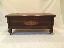 ANTIQUE BLANKET CEDAR CHEST, BRASS ACCENTS, 1920's ERA 40w x 20d x 17h