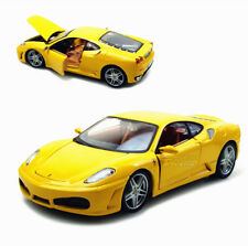Bburago 1:24 Ferrari F430 Diecast Model Roadster Car Vehicle New Yellow