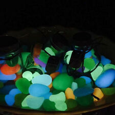 Luminous Pebble Stone Artificial Accessory Aquarium Decoration Fish Tank