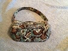 Vera Bradley Pretty  Blue&Brown Flowered Small Purse